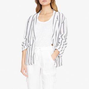 Sanctuary Striped Linen Button Blazer Jacket Small